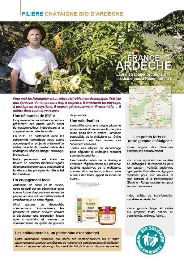 Châtaigne d'Ardèche Bio