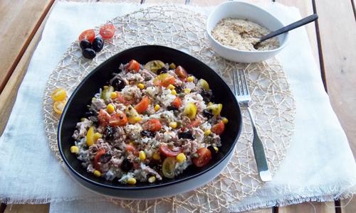 Recette bio Priméal : salade de riz