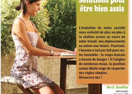 Christophe Geoffroy vous conseille: les solutions pour être bien assis