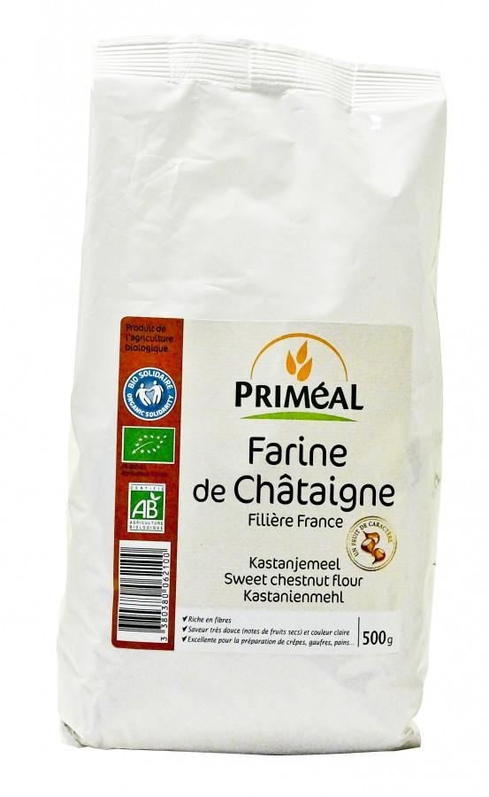farine de châtagne bio de la marque priméal