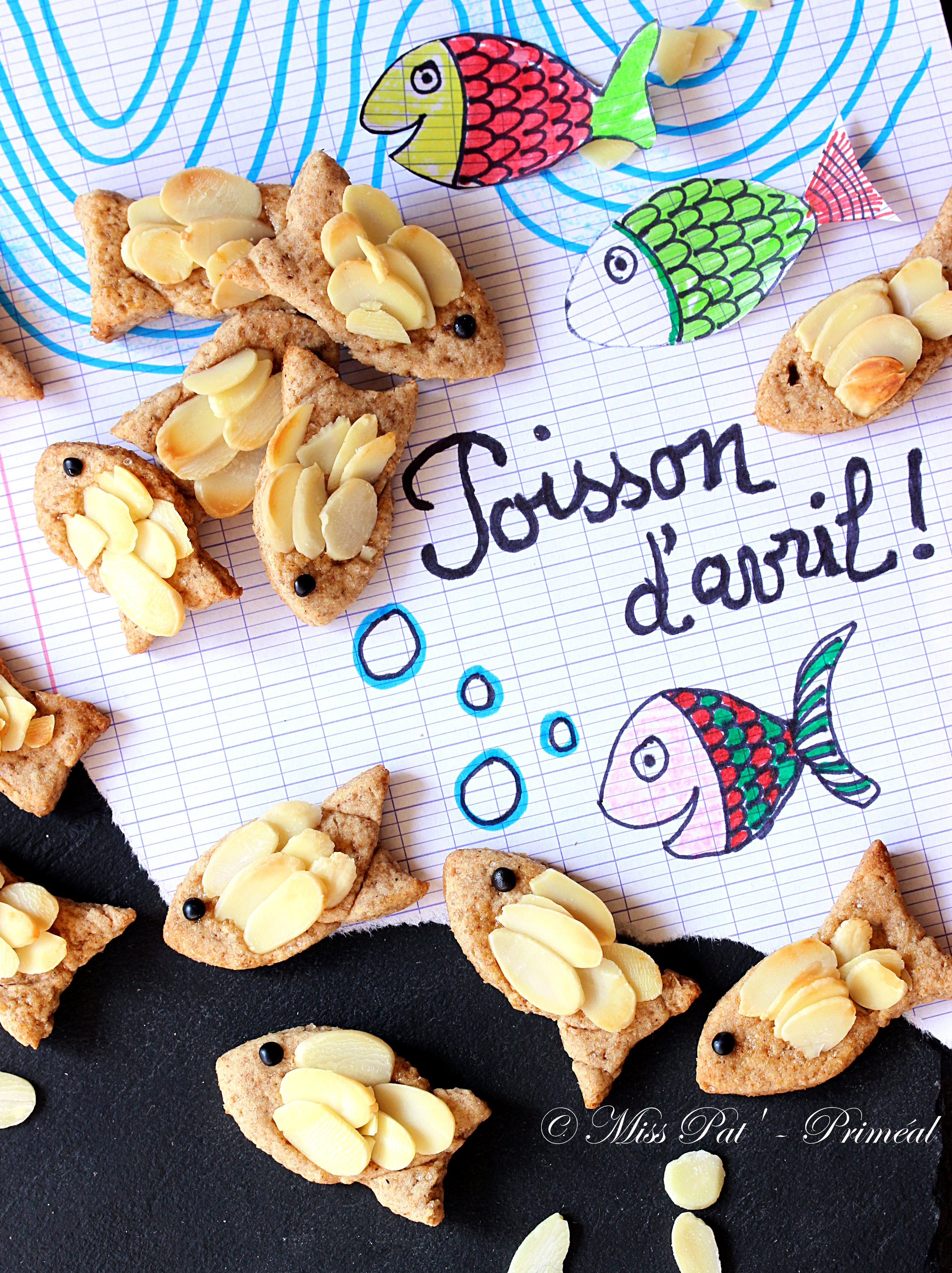 Recette Bio : Biscuits poisson d'avril