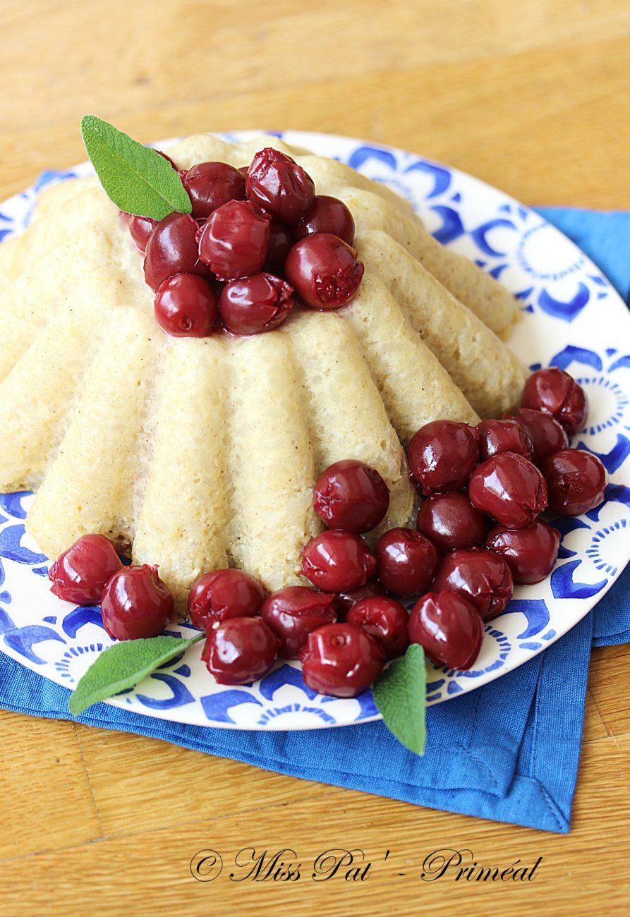 Recette bio : Gâteau de riz aux cerises
