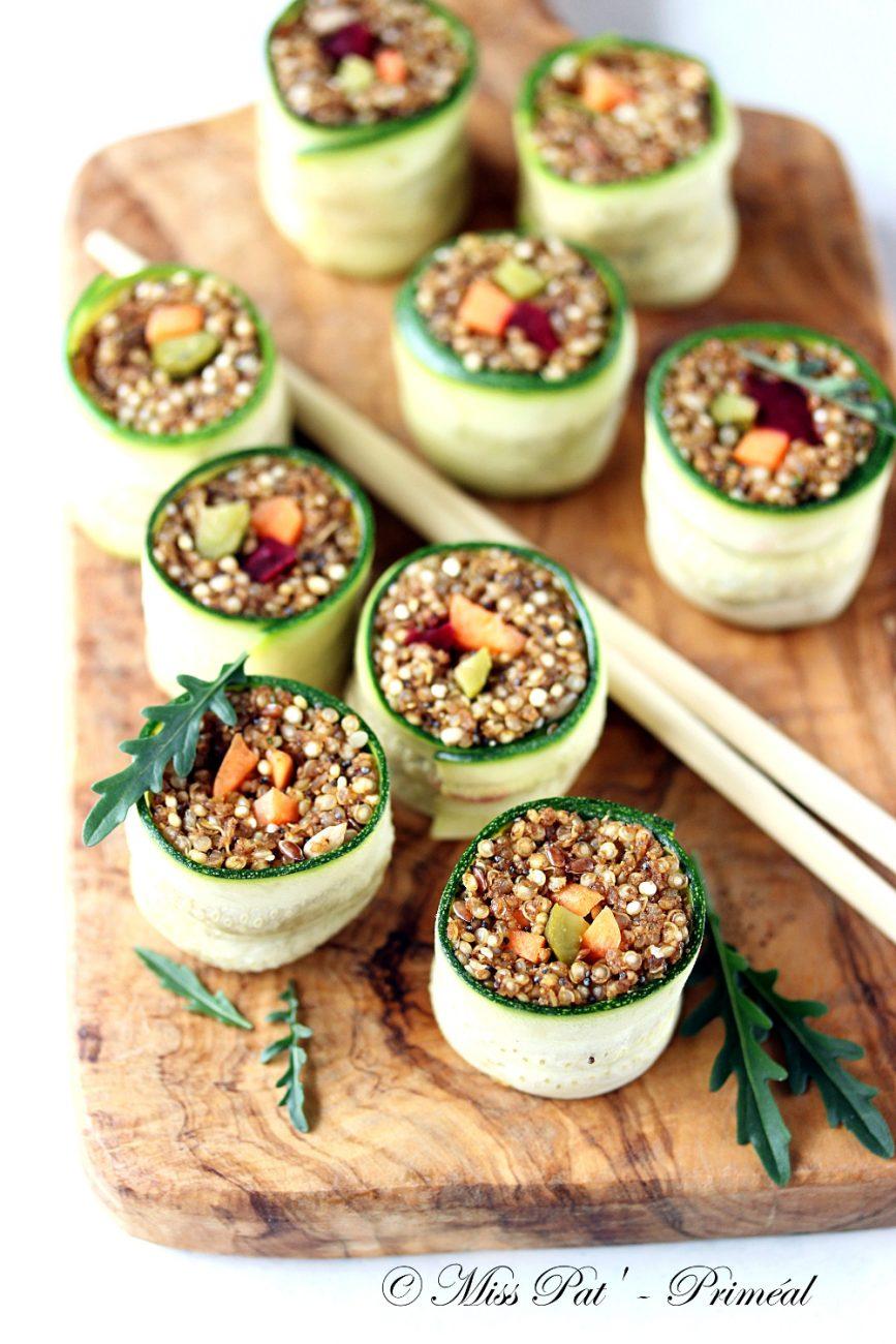 Recette bio : Makis quinoa et courgette