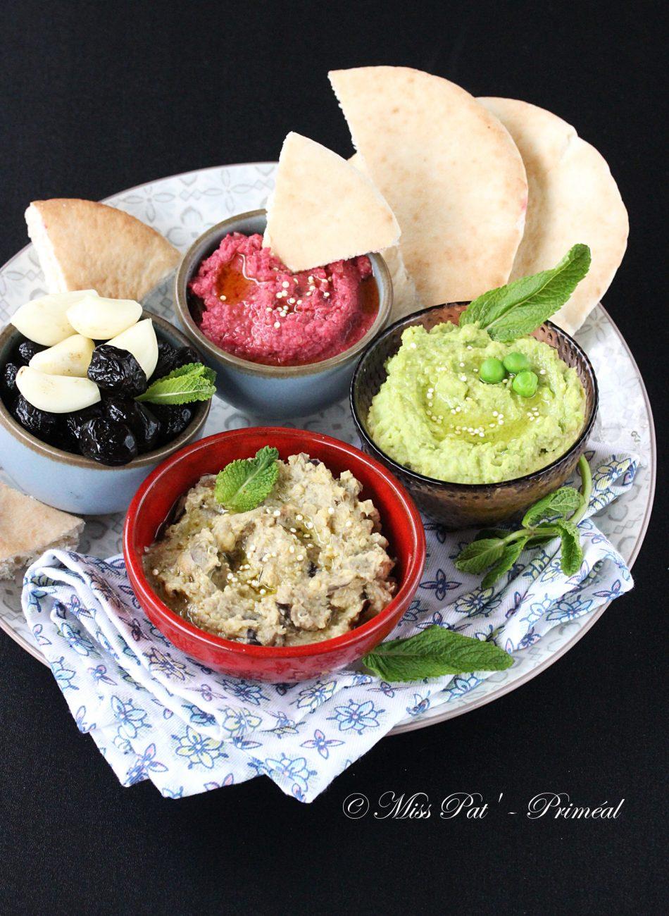 Mezzé houmous et quinoa