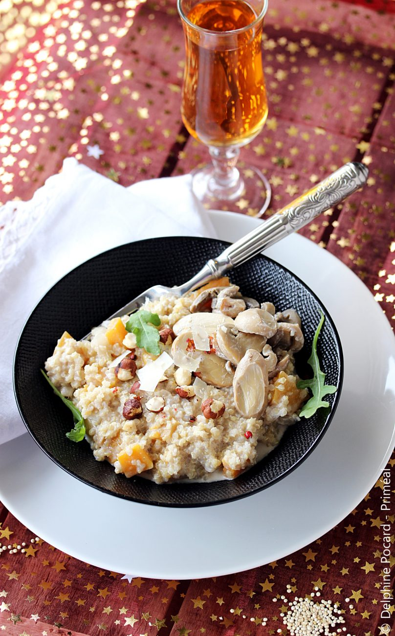 Risotto de quinoa et butternut aux épices de Noël