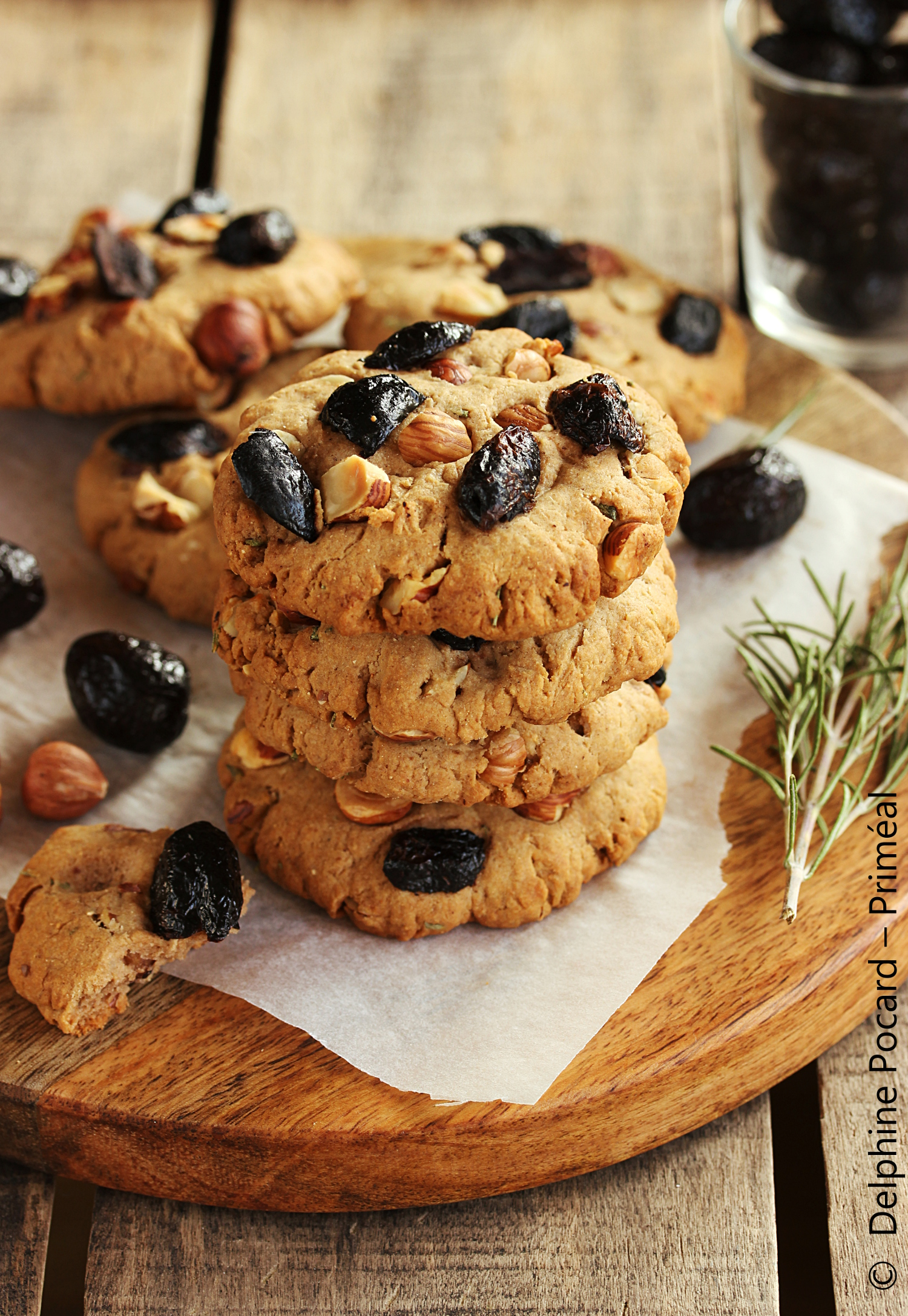 recette v g tarienne cookies sal s olives et noisettes au romarin primeal le bio v g tal. Black Bedroom Furniture Sets. Home Design Ideas