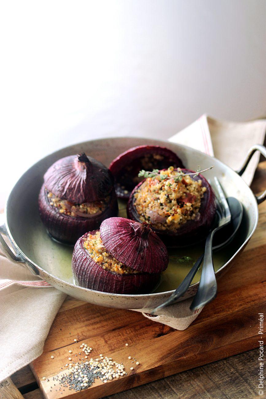 Oignons farcis au quinoa