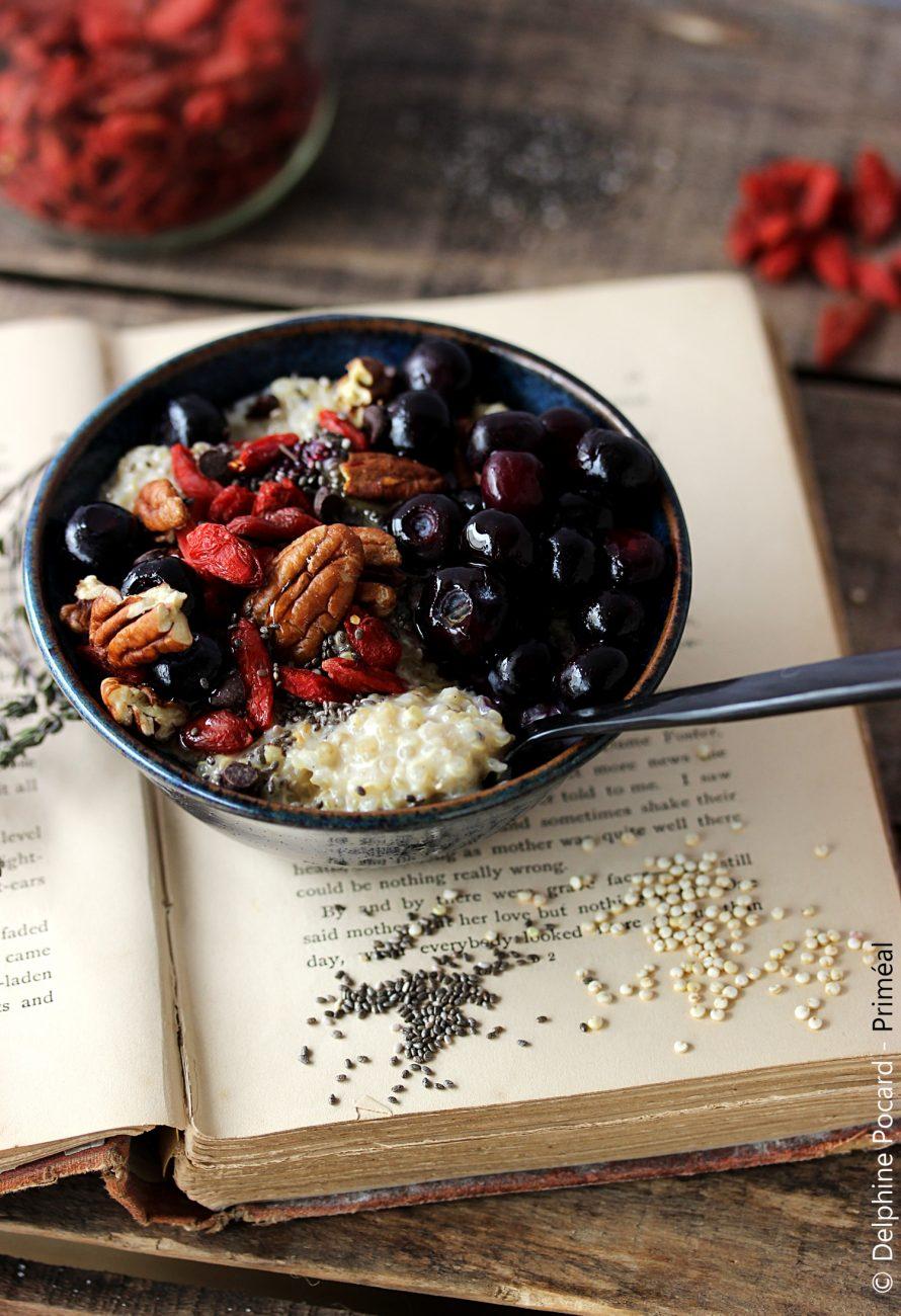 Porridge antioxydant au quinoa