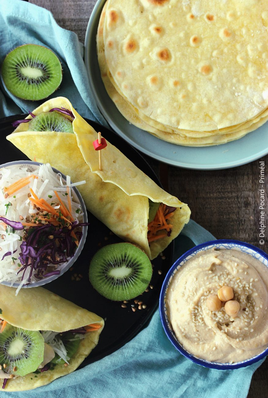 Brunch party : wraps garnis et sauce houmous au sésame