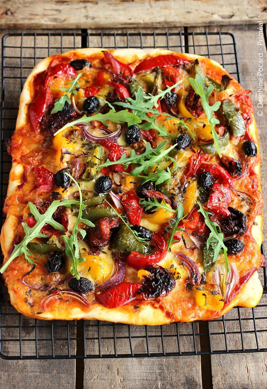 Pizza veggie aux poivrons