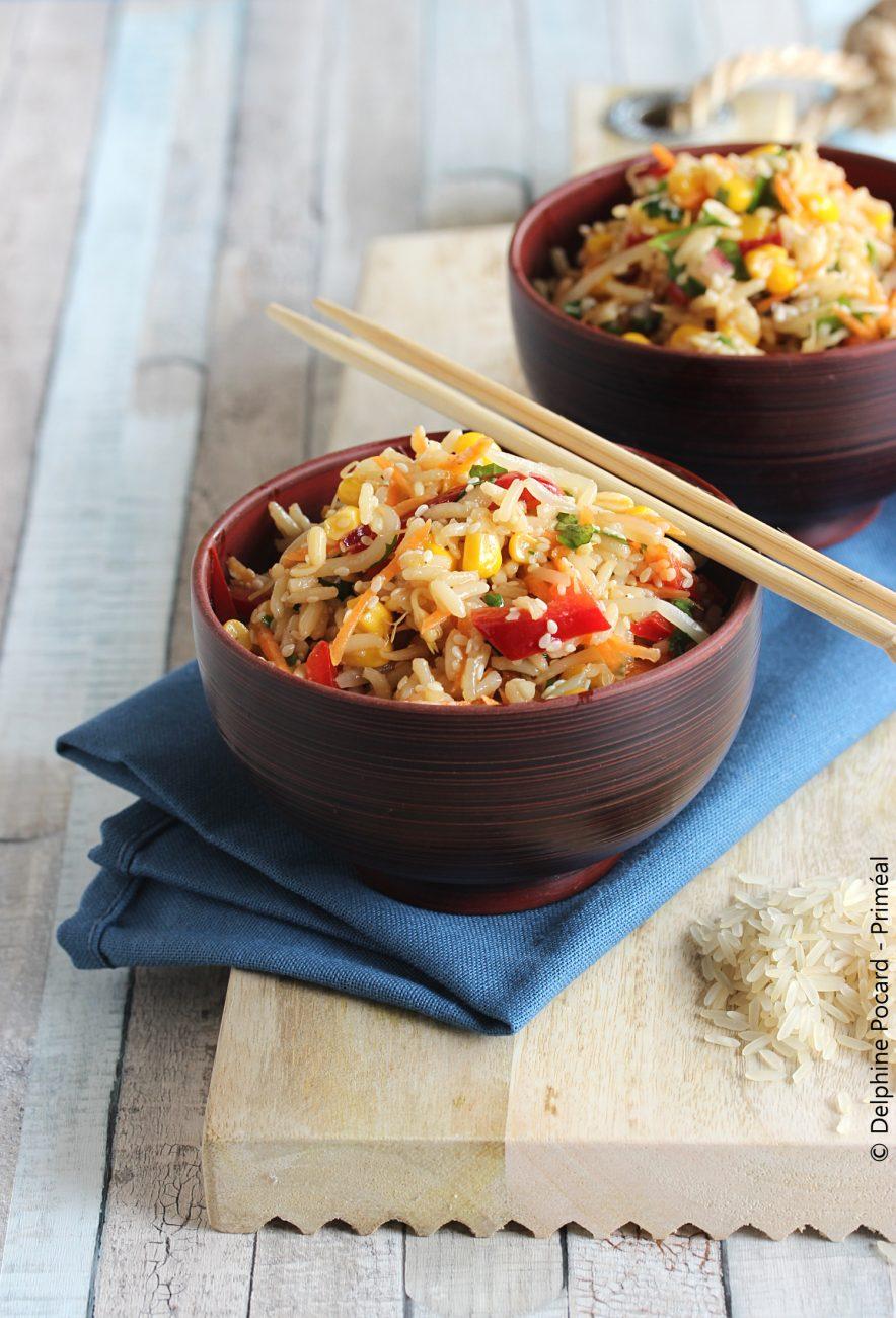 Salade de riz thaï gingembre et soja