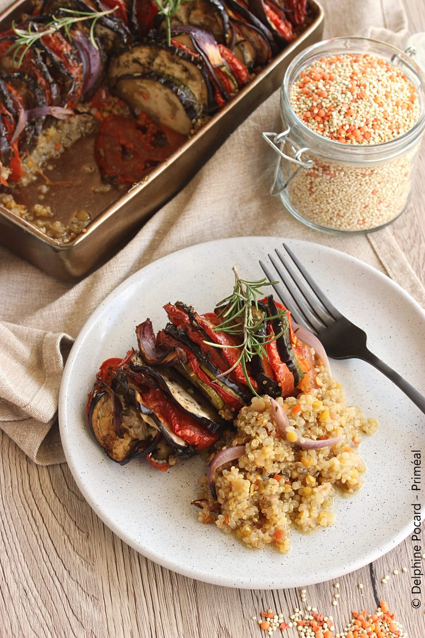 Tian de légumes au quinoa