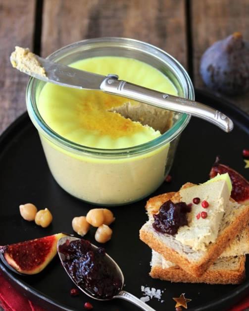 menu de noel entrées Faux gras ou foie-gras vegan