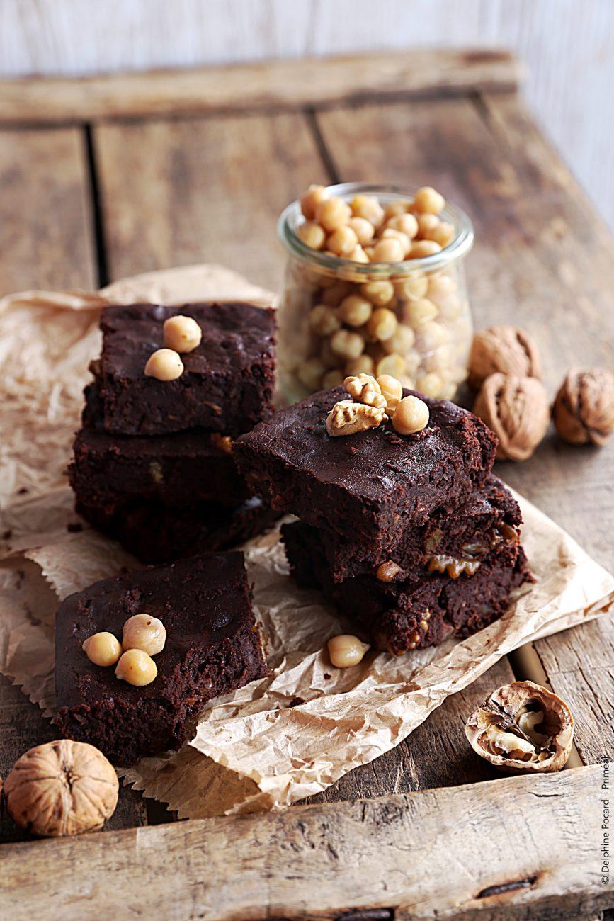 Brownie au chocolat noir et aux pois chiches