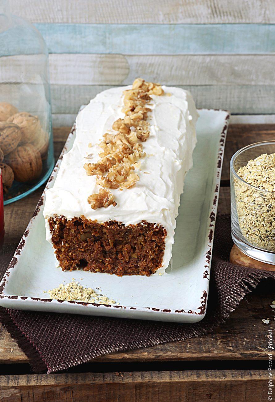 Carrot cake au porridge curcuma et quinoa