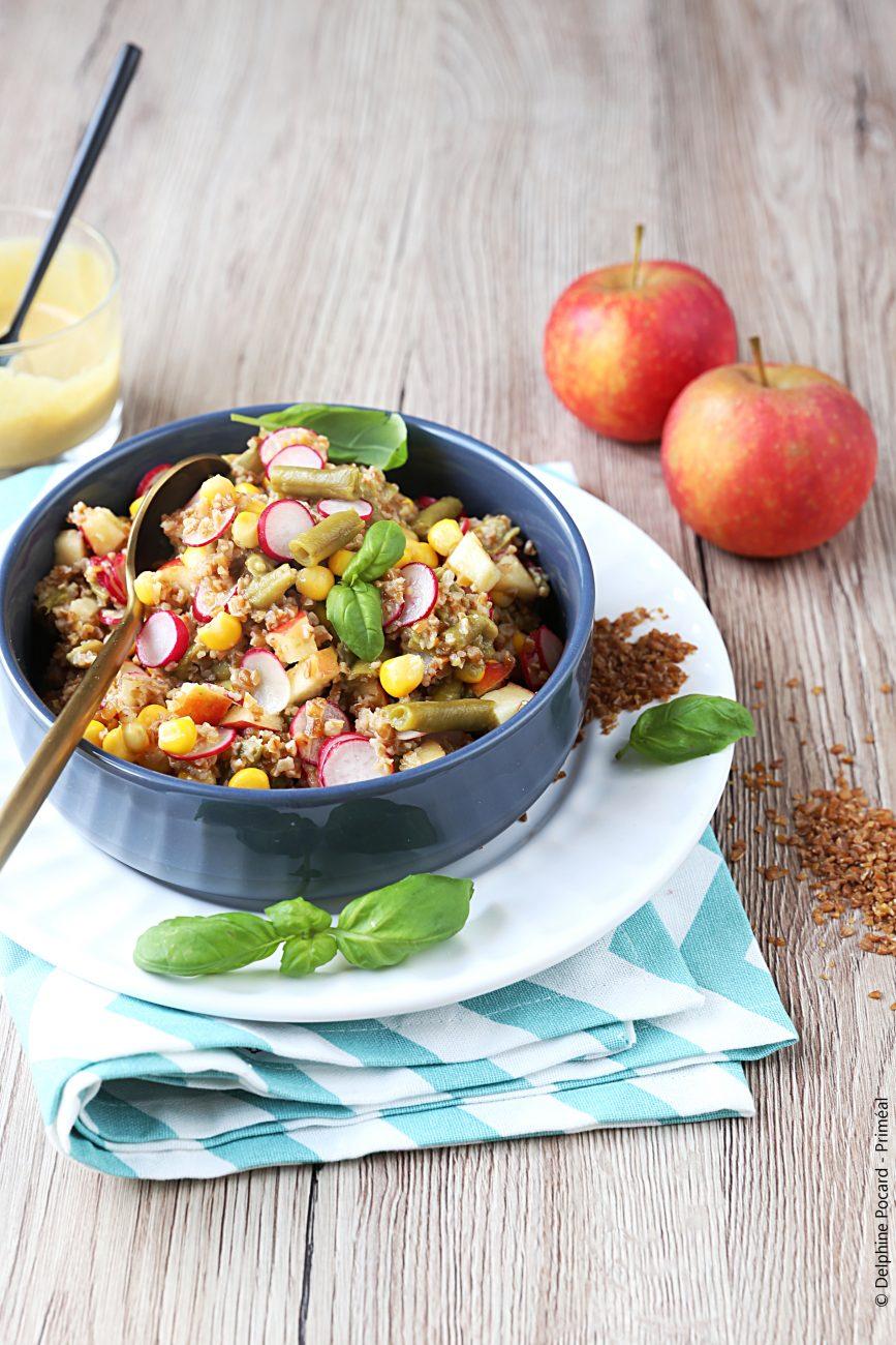 Salade de Boulgour de Petit Épeautre de Haute Provence et légumes, sauce au citron