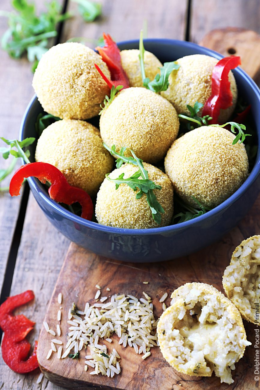 Arancini au riz asiatique