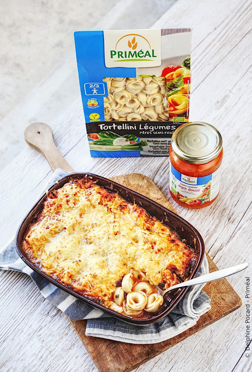 Gratin de Tortellini aux légumes