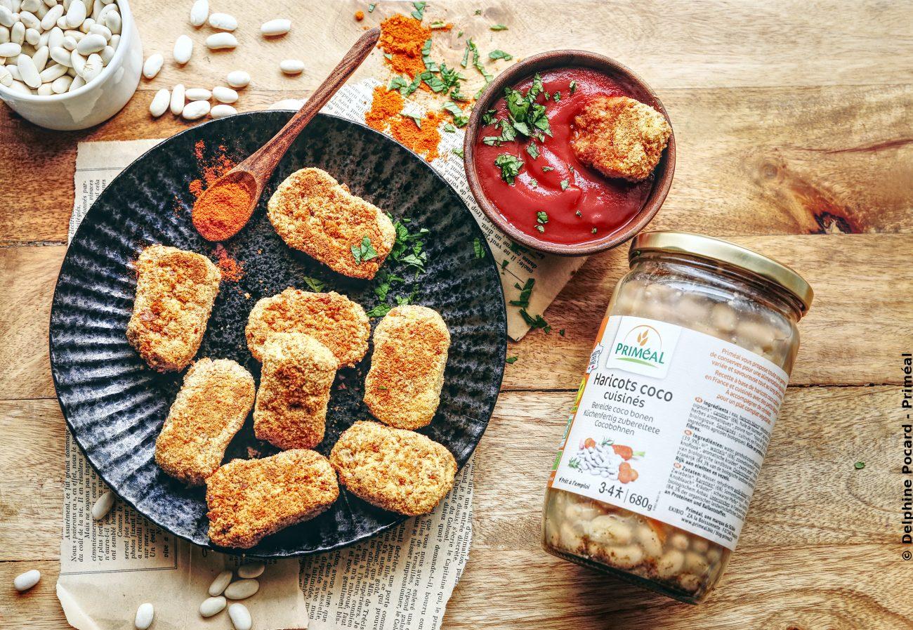 Nuggets vegan aux haricots coco bio