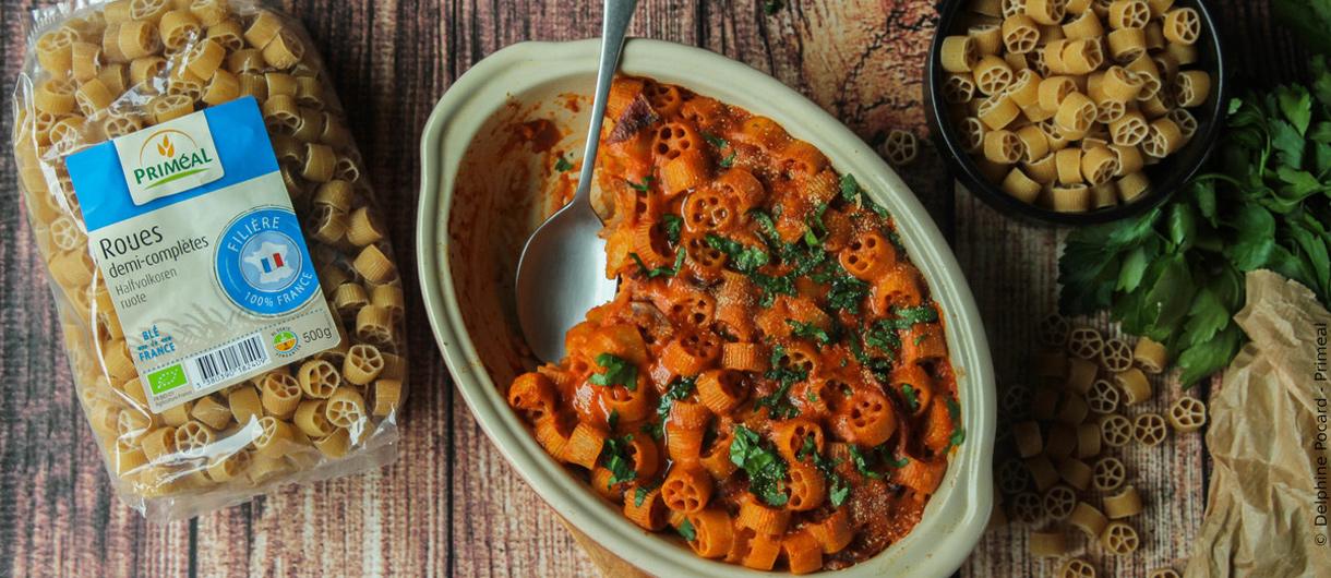 Gratin de pâtes à la provençale vegan | Facile à réaliser