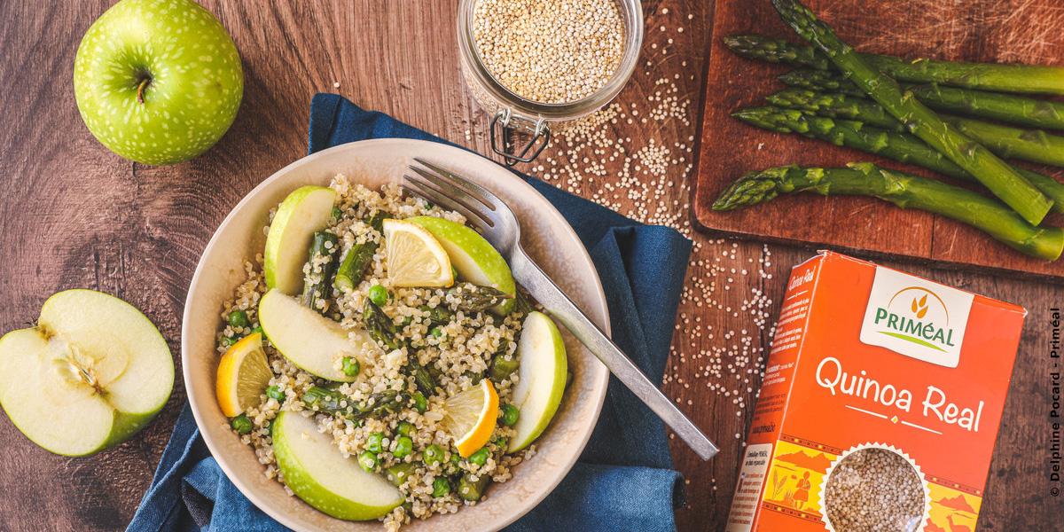 Salade printanière au quinoa et asperge verte