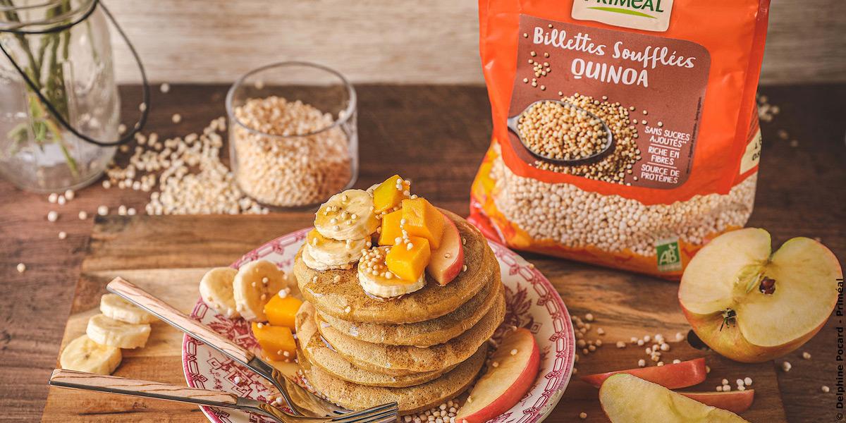 Pancakes et quinoa soufflé