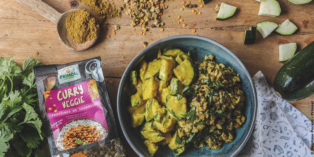 Curry veggie aux courgettes
