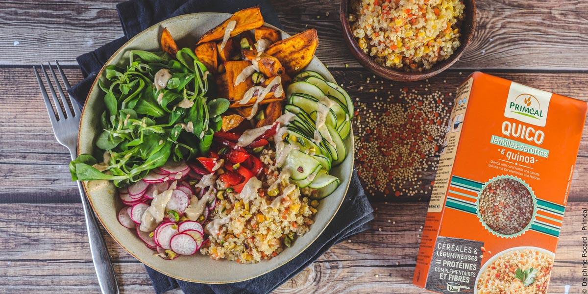 Veggie bowl au quico | Recette bio, équilibrée & colorée
