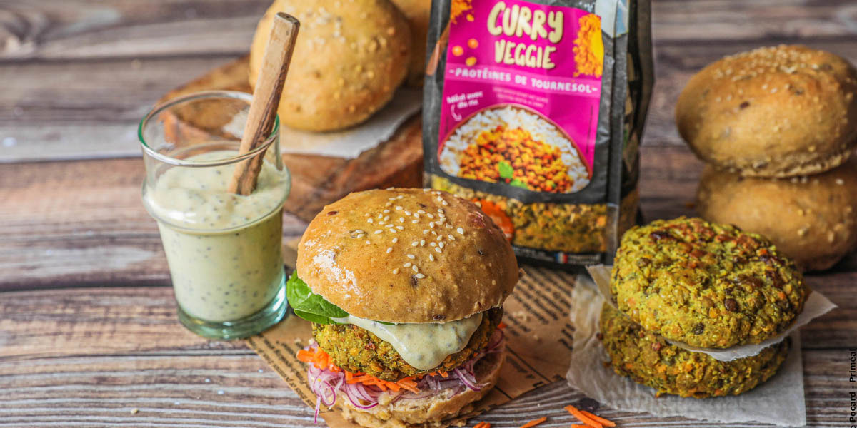 Burger veggie au curry
