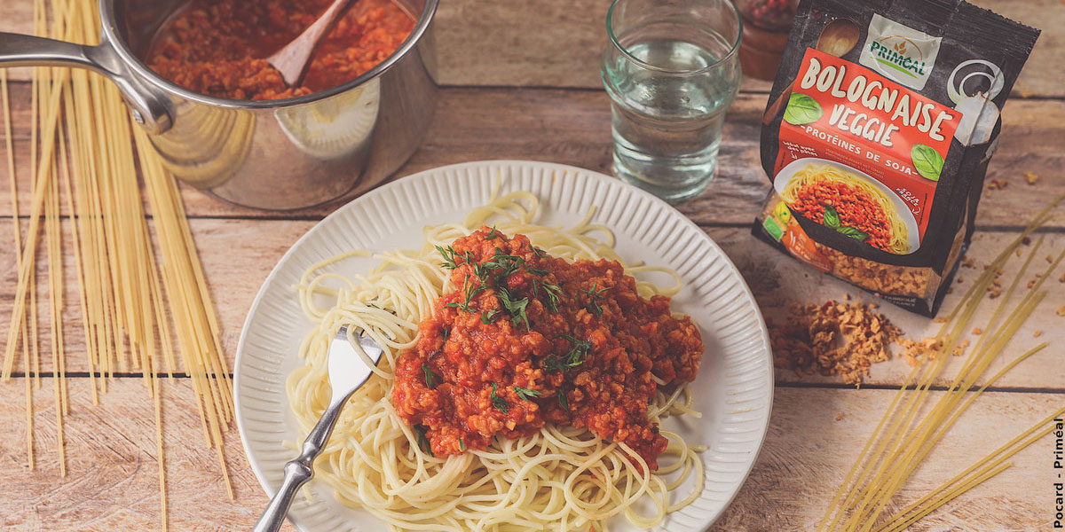 Spaghetti à la bolognaise vegan